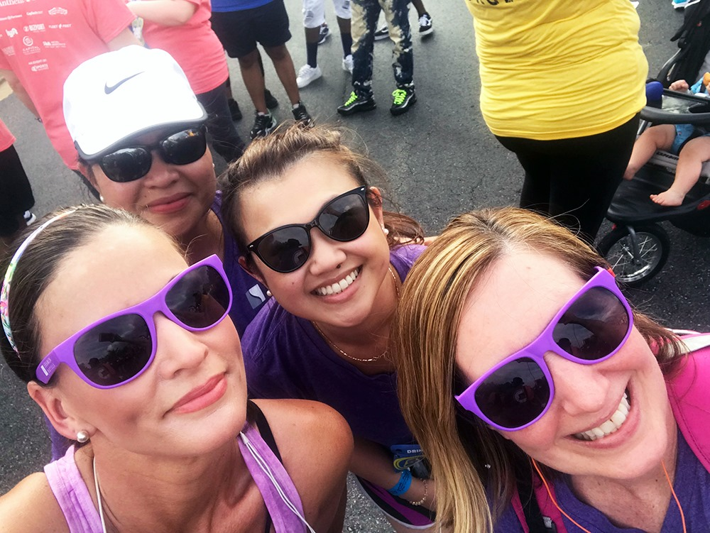 The Shamin Team at the Sports Backers Anthem Corporate Run